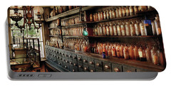 Pharmacy - So Many Drawers And Bottles Portable Battery Charger by Mike Savad