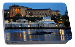 Philadelphia Art Museum And Fairmount Water Works Portable Battery Charger by Gary Whitton