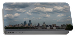 Philadelphia Skyline Across The Delaware River Portable Battery Charger by Terry DeLuco