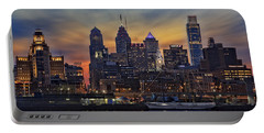 Philadelphia Skyline Portable Battery Charger by Susan Candelario