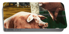 Pigs Portable Battery Charger by Janet Blakeley