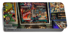 Pinball Elton John Bally Portable Battery Charger by Jane Linders