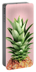 Pineapple And Pink Portable Battery Charger by Vitor Costa