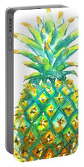 Pineapple Window To The Tropics Portable Battery Charger by Carlin Blahnik