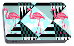Ping Flamingo Portable Battery Charger by Mark Ashkenazi