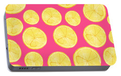Pink Lemonade Portable Battery Charger by Allyson Johnson