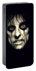 Poison Alice Cooper Portable Battery Charger by Fred Larucci