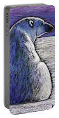 Polar Bear Backside Portable Battery Charger by Ande Hall