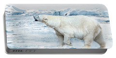 Polar Bear Portable Battery Charger by Heike Hultsch