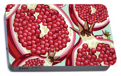 Pomegranate   Portable Battery Charger by Mark Ashkenazi