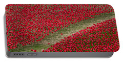 Poppies Of Remembrance Portable Battery Charger by Martin Newman