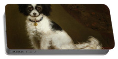 Portrait Of A Spaniel Portable Battery Charger by Anonymous