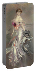 Portrait Of Marthe Regnier Portable Battery Charger by Giovanni Boldini