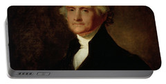 Portrait Of Thomas Jefferson Portable Battery Charger by Asher Brown Durand