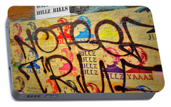 Post No Bills Hillary Clinton  Portable Battery Charger by Funkpix Photo Hunter