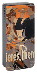 Poster Advertising Phenix Beer Portable Battery Charger by Adolf Hohenstein