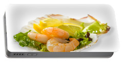 Prawn Salad With Lemon Portable Battery Charger by Amanda Elwell