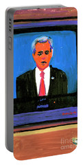 President George Bush Debate 2004 Portable Battery Charger by Candace Lovely