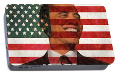 President Obama Hope Portable Battery Charger by Dan Sproul