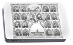 Presidents Of The United States 1776-1876 Portable Battery Charger by War Is Hell Store