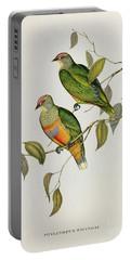 Ptilinopus Ewingii Portable Battery Charger by John Gould