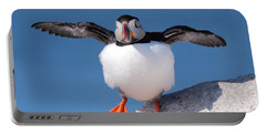 Puffin Dance Portable Battery Charger by Bruce J Robinson