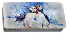 Puffins Portable Battery Charger by Kovacs Anna Brigitta