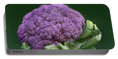 Purple Cauliflower Portable Battery Charger by Nikolyn McDonald
