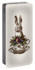 Rabbit In A Teacup Portable Battery Charger by Eclectic at HeART