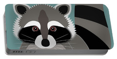 Raccoon Forest Bandit Portable Battery Charger by Antique Images