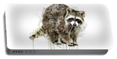Raccoon Portable Battery Charger by Marian Voicu