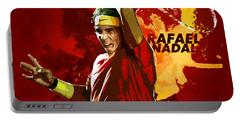 Rafael Nadal Portable Battery Charger by Semih Yurdabak
