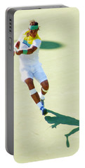 Rafael Nadal Shadow Play Portable Battery Charger by Steven Sparks
