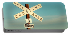Railroad Crossing Portable Battery Charger by Todd Klassy