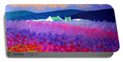 Rainbow Meadow Portable Battery Charger by John  Nolan