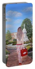 Razorback Swagger At Bentonville Square Portable Battery Charger by Belinda Nagy