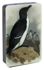 Razorbill Portable Battery Charger by Archibald Thorburn
