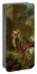 Rebecca Kidnapped By The Templar Portable Battery Charger by Ferdinand Victor Eugene Delacroix