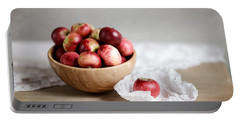 Red Apples Still Life Portable Battery Charger by Nailia Schwarz