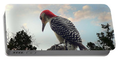 Red-bellied Woodpecker - Tree Top Portable Battery Charger by Al Powell Photography USA