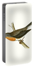 Red Breasted Flycatcher Portable Battery Charger by English School