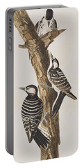 Red-cockaded Woodpecker Portable Battery Charger by John James Audubon