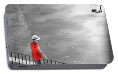 Red Shirt, Black Swanla Seu, Palma De Portable Battery Charger by John Edwards