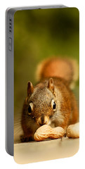 Red Squirrel   Portable Battery Charger by Cale Best