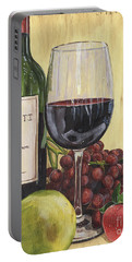Red Wine And Pear 2 Portable Battery Charger by Debbie DeWitt