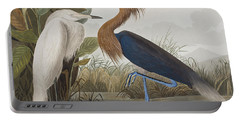 Reddish Egret Portable Battery Charger by John James Audubon