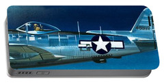 Republic P-47n Thunderbolt Portable Battery Charger by Wilf Hardy