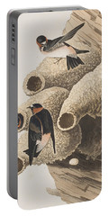 Republican Or Cliff Swallow Portable Battery Charger by John James Audubon