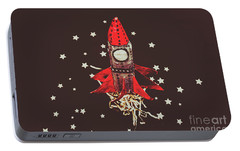 Retro Cosmic Adventure Portable Battery Charger by Jorgo Photography - Wall Art Gallery