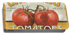Retro Veggie Labels 4 Portable Battery Charger by Debbie DeWitt